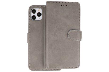 Bookstyle Wallet Cases Hoes voor iPhone 11 Pro Grijs