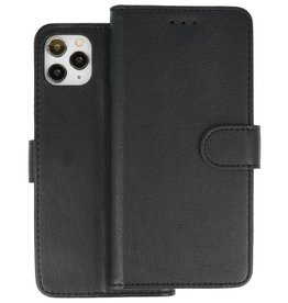 Bookstyle Wallet Cases Hoes iPhone 11 Pro Max Zwart