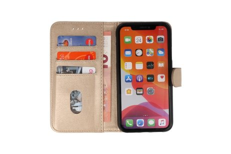 Bookstyle Wallet Cases Hoes voor iPhone 11 Pro Max Goud