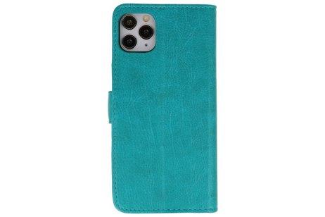 Bookstyle Wallet Cases Hoes voor iPhone 11 Pro Max Groen