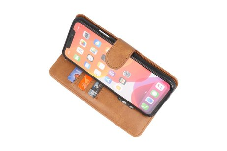 Bookstyle Wallet Cases Hoes voor iPhone 11 Pro Max Bruin