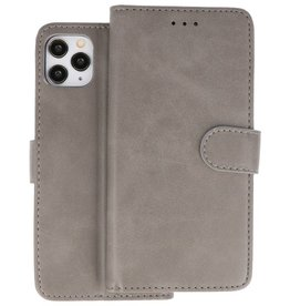 Bookstyle Wallet Cases Hoes iPhone 11 Pro Max Grijs