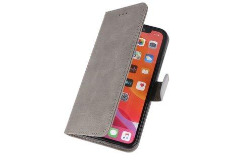 Bookstyle Wallet Cases Hoes voor iPhone 11 Pro Max Grijs