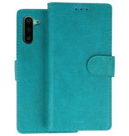 Bookstyle Wallet Cases Hoes Samsung Galaxy Note 10 Groen