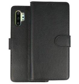 Samsung Galaxy Note 10 Plus Hoesje Kaarthouder Book Case Telefoonhoesje Zwart