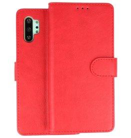 Samsung Galaxy Note 10 Plus Hoesje Kaarthouder Book Case Telefoonhoesje Rood