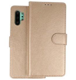 Samsung Galaxy Note 10 Plus Hoesje Kaarthouder Book Case Telefoonhoesje Goud
