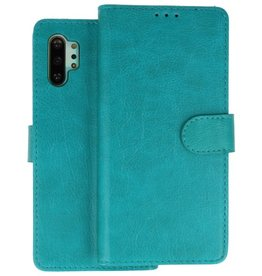 Bookstyle Wallet Cases Hoes Samsung Galaxy Note 10 Plus Groen