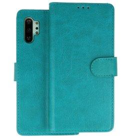 Bookstyle Wallet Cases Hoesje Samsung Galaxy Note 10 Plus Groen