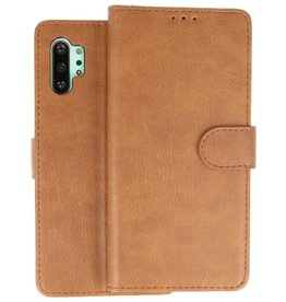 Bookstyle Wallet Cases Hoes Samsung Galaxy Note 10 Plus Bruin