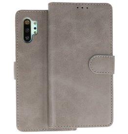 Samsung Galaxy Note 10 Plus Hoesje Kaarthouder Book Case Telefoonhoesje Grijs