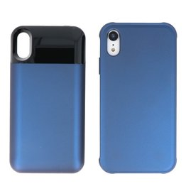 Battery Power Bank + Back Case iPhone XR Blauw