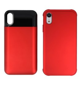 Battery Power Bank + Back Case iPhone XR Rood