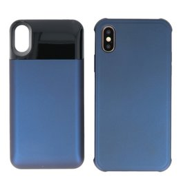 Battery Power Bank + Back Case iPhone Xs Max Blauw