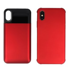 Battery Power Bank + Back Case iPhone Xs Max Rood