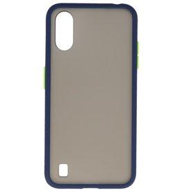 Samsung Galaxy A01 Hoesje Hard Case Backcover Telefoonhoesje Blauw
