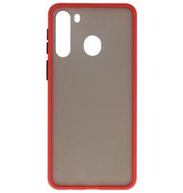 Samsung Galaxy A21 Hoesje Hard Case Backcover Telefoonhoesje Rood