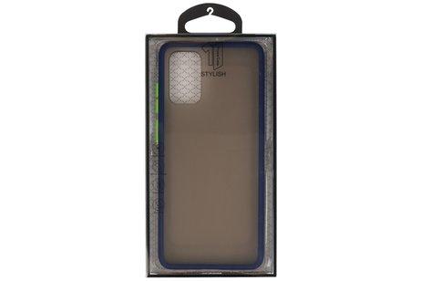 Kleurcombinatie Hard Case voor Samsung  Galaxy S20 Plus / 5G Blauw