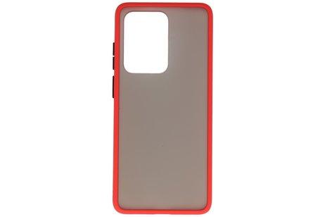 Kleurcombinatie Hard Case voor Samsung Galaxy S20 Ultra 5G Rood