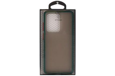 Kleurcombinatie Hard Case voor Samsung Galaxy S20 Ultra 5G Donker Groen