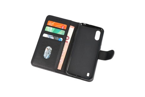 Bookstyle Wallet Cases Hoesje voor Samsung Galaxy A01 Zwart
