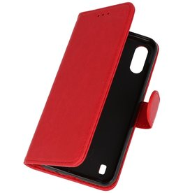 Bookstyle Wallet Cases Hoesje Samsung Galaxy A01 Rood