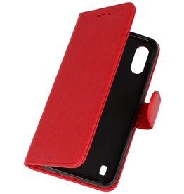 Samsung Galaxy A01 Hoesje Kaarthouder Book Case Telefoonhoesje Rood