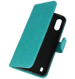 Samsung Galaxy A01 Hoesje Kaarthouder Book Case Telefoonhoesje Groen