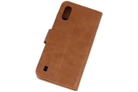 Bookstyle Wallet Cases Hoesje voor Samsung Galaxy A01 Bruin