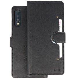 KAIYUE - Luxe Portemonnee Hoesje Samsung Galaxy A70 - Zwart