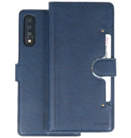 KAIYUE - Luxe Portemonnee Hoesje Samsung Galaxy A70 - Navy