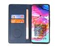 KAIYUE - Luxe Portemonnee Hoesje - Pasjeshouder Telefoonhoesje - Wallet Case - Geschikt voor Samsung Galaxy A70 - Navy