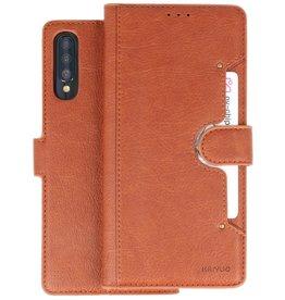 KAIYUE - Luxe Portemonnee Hoesje Samsung Galaxy A70 - Bruin