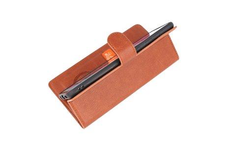 KAIYUE - Luxe Portemonnee Hoesje - Pasjeshouder Telefoonhoesje - Wallet Case - Geschikt voor Samsung Galaxy A70 - Bruin