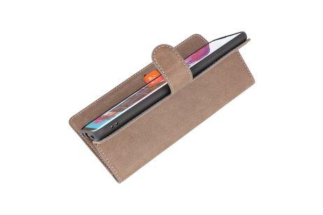 KAIYUE - Luxe Portemonnee Hoesje - Pasjeshouder Telefoonhoesje - Wallet Case - Geschikt voor Samsung Galaxy A70 - Grijs