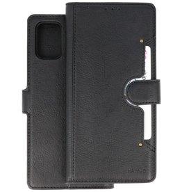 KAIYUE - Luxe Portemonnee Hoesje Samsung Galaxy A71 - Zwart