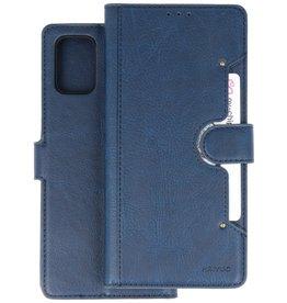 KAIYUE - Luxe Portemonnee Hoesje Samsung Galaxy A71 - Navy