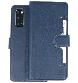 KAIYUE - Luxe Portemonnee Hoesje Samsung Galaxy S20 - Navy