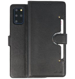 KAIYUE - Luxe Portemonnee Hoesje Samsung Galaxy S20 Plus - Zwart