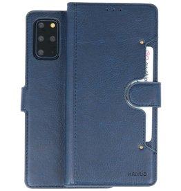 KAIYUE - Luxe Portemonnee Hoesje Samsung Galaxy S20 Plus - Navy