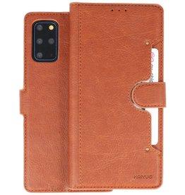 KAIYUE - Luxe Portemonnee Hoesje Samsung Galaxy S20 Plus - Bruin
