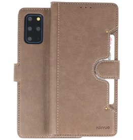 KAIYUE - Luxe Portemonnee Hoesje Samsung Galaxy S20 Plus - Grijs