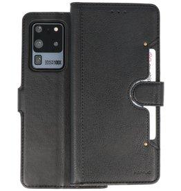 KAIYUE - Luxe Portemonnee Hoesje Samsung Galaxy S20 Ultra - Zwart