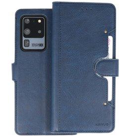 KAIYUE - Luxe Portemonnee Hoesje Samsung Galaxy S20 Ultra - Navy