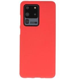 BackCover Hoesje Color Telefoonhoesje Samsung Galaxy S20 Ultra - Rood