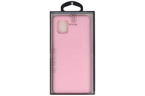 Color TPU Telefoonhoesje Back Cover voor Samsung Galaxy Note 10 Lite - Roze