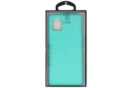 Color TPU Telefoonhoesje Back Cover voor Samsung Galaxy Note 10 Lite - Turquoise