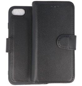 BAOHU Handmade Leer Telefoonhoesje iPhone SE 2020 / 8 / 7 Zwart
