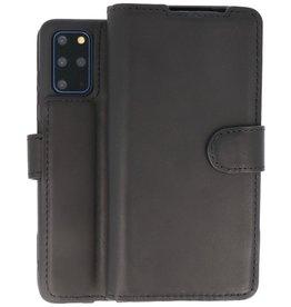 BAOHU Handmade Leer Telefoonhoesje Samsung Galaxy S20 Plus Zwart
