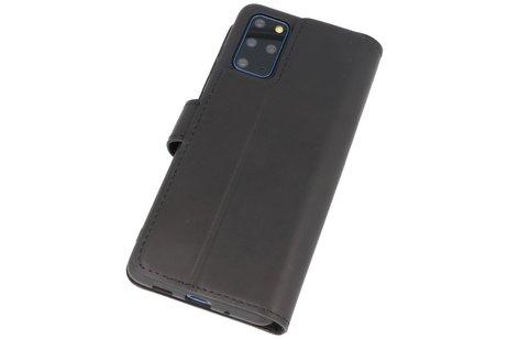 BAOHU Handmade Leer Telefoonhoesje Wallet Cases voor Samsung Galaxy S20 Plus - Zwart